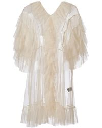 Supersweet x Moumi - Tulle Babydoll In Ecru - Lyst