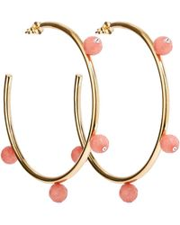 A. Carnevale - Oh So Pretty Hoops Gold & Pink - Lyst