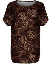 A - M M - E - Drape Top In Leopard - Lyst
