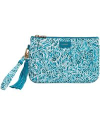 Fonfique - Talitha Make-up Pouch Flora Turquoise - Lyst