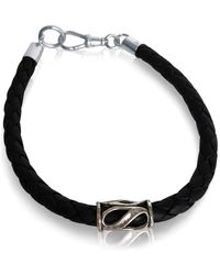GFG Jewellery by Nilufer - Nikos Man Bracelet Black - Lyst
