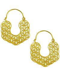 Ottoman Hands - Kaleidoscope Filigree Hoop Earrings - Lyst