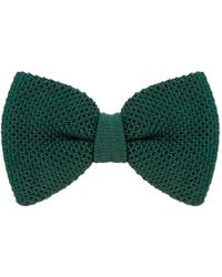 40 Colori - Pine Solid Silk Knitted Bow Tie - Lyst