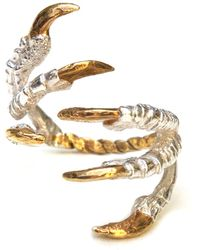 Tessa Metcalfe - Pigeon Grasp Ring With Gold Nails - Lyst