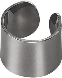 Dutch Basics - Ear Cuff Oxidized Silver Thick - Lyst