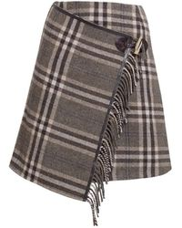 Rumour London - Isla Checked Wool Blend Mini Skirt - Lyst