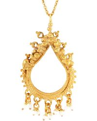 Annabelle Lucilla Jewellery | Sikhara Charm Pearl Pendant Gold | Lyst