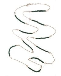 Cosanuova - Long Emerald Necklace - Lyst