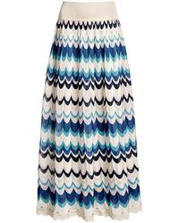 Rumour London - Tahiti Wavy Striped Maxi Skirt - Lyst