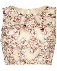 Raishma - Blush Embroidered Crop Top - Lyst