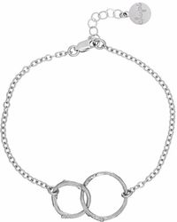 Chupi - Just The Two Of Us Hawthorn Twig Circle Bracelet In Silver - Lyst