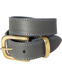 N'damus London - The Orion Grey Belt Brass Buckle - Lyst