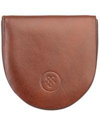 Maxwell Scott Bags - Luxury Italian Leather Men's Horseshoe Coin Wallet Savino Chestnut Tan - Lyst