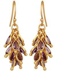 Carousel Jewels - Amethyst Cluster Earrings - Lyst