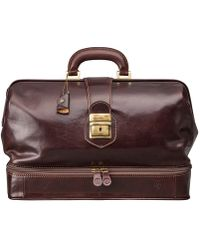 Maxwell Scott Bags | Luxury Italian Leather Doctor Bag Large Donnini Dark Chocolate Brown | Lyst