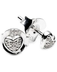 ISABEL LENNSE - Mini Heart White Diamond Eearrings - Lyst