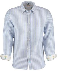 Tobias Clothing - Karnataka Blue Stripe Linen Shirt - Lyst