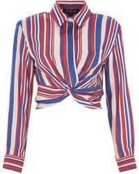 MYBESTFRIENDS - Crop With Stripes Shirt - Lyst