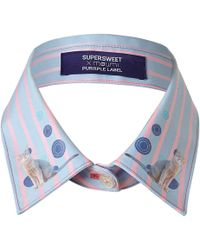 Supersweet x Moumi - Candy Stripe Collar Blue - Lyst