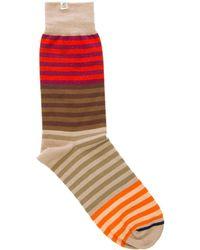 40 Colori - Brown Gradient Striped Organic Cotton Socks - Lyst
