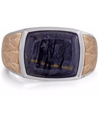 LMJ - Grey Picture Agate Stone Ring - Lyst