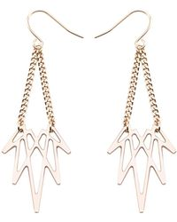Mademoiselle Felee - Barcelona Luz Wing Earrings Xs Gold - Lyst