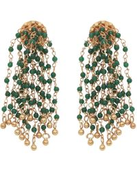 Carousel Jewels - Green Onyx Waterfall Earrings - Lyst