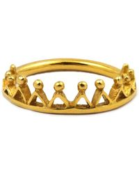 Annabelle Lucilla Jewellery - Dainty Stella Crown Ring Gold - Lyst