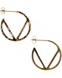 KIND - Gold Elements Hoop Earrings - Lyst