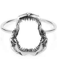 Lee Renee - Shark Jawbone Ring Silver - Lyst