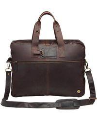 MAHI - Classic Leather Holdall In Mahogany - Lyst