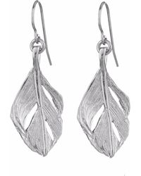 Chupi - I Can Fly Midi Swan Feather Earrings Silver - Lyst