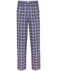 Law of Sleep - Theodore Pyjama Trousers Blue - Lyst