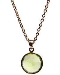 Puck Wanderlust - Peridot Gold August Birthday Charm Necklace - Lyst