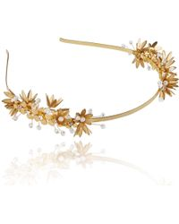 Linni Lavrova - Elfi Hairband With Golden Flowers - Lyst