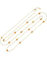 LÁTELITA London - Venice 120cm Long Chain Necklace Gold Citrine - Lyst