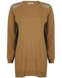 A - M M - E - Gold Panel Cashmere Camel - Lyst