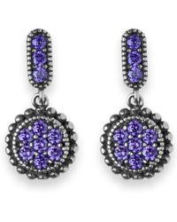 Platadepalo - Purple Zircon Stone & Silver Drop Earrings - Lyst