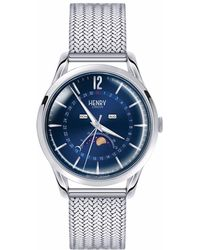 Henry London | Unisex 39mm Knightsbridge Moonphase Stainless Steel Bracelet Watch | Lyst