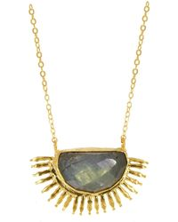 Ottoman Hands - Sunrise Labradorite Necklace - Lyst