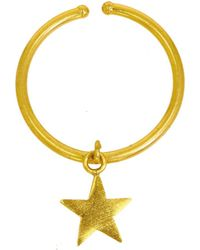 Ottoman Hands - Gold Star Charm Ring - Lyst