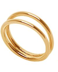 Eshvi - Double Band Ring - Lyst
