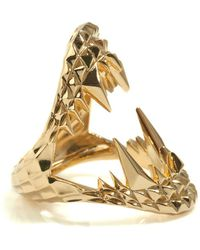 Kasun - Vampire Bite Ring Gold - Lyst