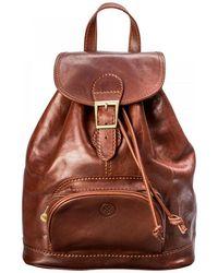 Maxwell Scott Bags - Rich Chestnut Tan Leather Rucksack For Women - Lyst
