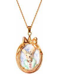 Hop Skip & Flutter - Little Lord Crispin Dog Portrait Pendant Necklace - Lyst