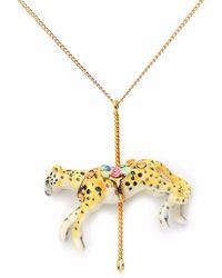 Hop Skip & Flutter - Merry Go Round Porcelain Small Cheetah Pendant - Lyst