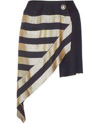Jiri Kalfar - Black & Gold Contrast Skirt - Lyst