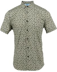 lords of harlech - Scott Shirt In Olive Leaves - Lyst