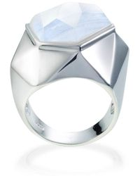 Ona Chan Jewelry - Lattice Cocktail Ring Blue Lace Agate - Lyst