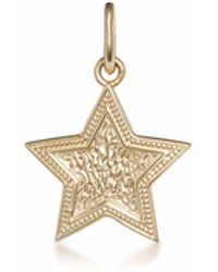 One and One Studio - Sterling Silver & Gold Plated Embossed Star Pendant - Lyst